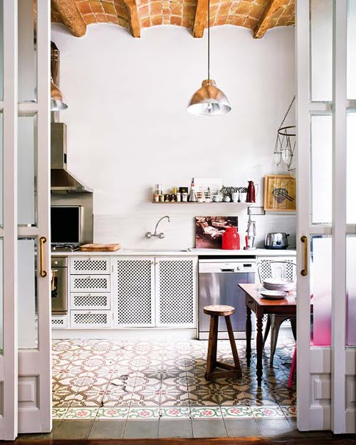 paterned floor kitchen nuevo estilo