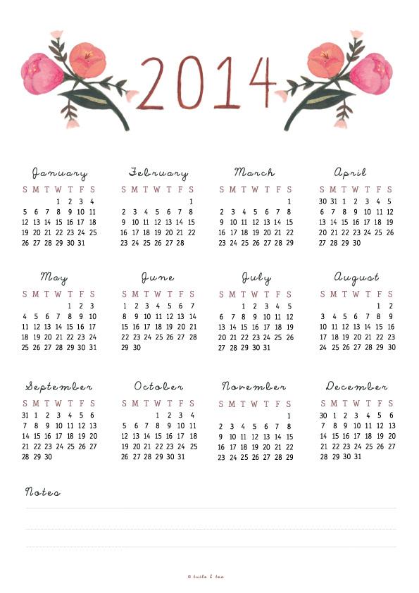 TuileAndTea_Floral-Calendar-2014