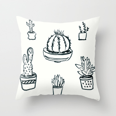 Prickly Little Things Thorny Throw Pillow
